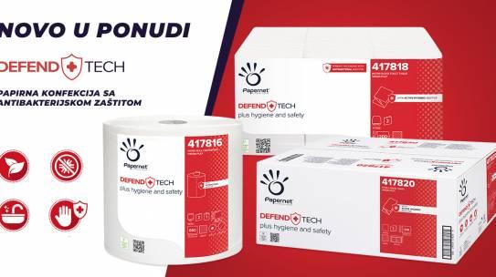 Papirna konfekcija sa antibakterijskom zaštitom – Defend Tech