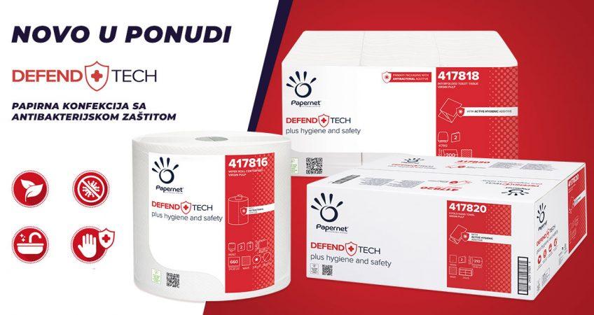 Papirna konfekcija sa ntibakterijskom zaštitom - Defend Tech